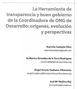 Herramienta de transparencia y buen gobierno